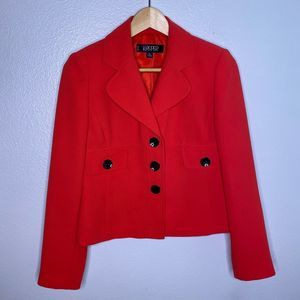 Kasper Red Coral Button Up Blazer 2P